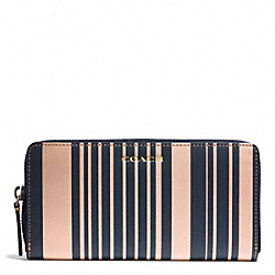 COACH HERITAGE VINTAGE STRIPE LEATHER ACCORDION WALLET - ONE COLOR - F74731