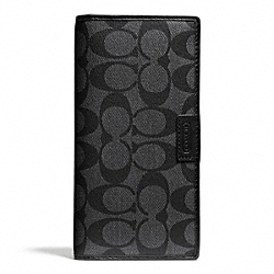HERITAGE SIGNATURE BREAST POCKET WALLET - f74738 - CHARCOAL/BLACK