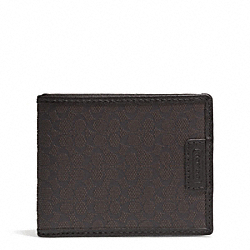 COACH F74773 Signature Embossed Slim Billfold Id Wallet