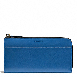 COACH F74784 - BLEECKER LARGE LEATHER HALF ZIP WALLET IMPERIAL BLUE