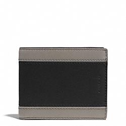 COACH F74798 Heritage Sport Slim Billfold Id Wallet SLATE/BLACK