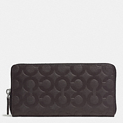 COACH F74802 Accordion Wallet In Op Art Embossed Leather MAHOGANY