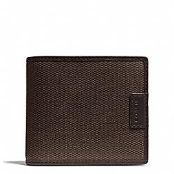 COACH F74817 Heritage Check Compact Id Wallet ESPRESSO