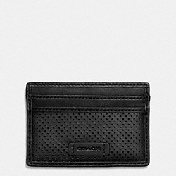 COACH F74894 Varick Card Case In Leather BLACK