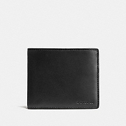 COACH F74896 Compact Id Wallet BLACK