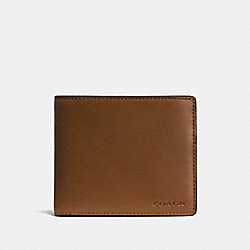 COACH F74896 Compact Id Wallet DARK SADDLE