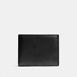 COACH F74900 Slim Billfold Id Wallet BLACK