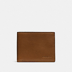 COACH F74900 Slim Billfold Id Wallet DARK SADDLE