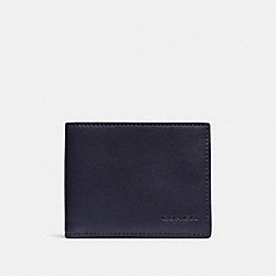 COACH F74900 Slim Billfold Id Wallet MIDNIGHT