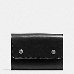 COACH F74920 - ARTISAN SMALL ACCORDION WALLET IN SPORT CALF LEATHER  BLACK