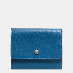 COACH F74930 Coin Case In Sport Calf Leather DENIM