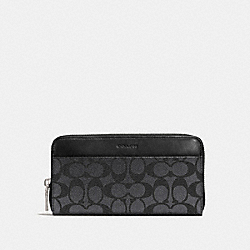 COACH F74936 Accordion Wallet In Signature Canvas CHARCOAL