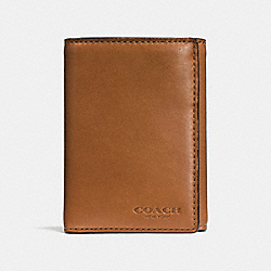 COACH F74948 - TRIFOLD WALLET SADDLE