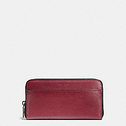 COACH F74977 Accordion Wallet In Crossgrain Leather BLACK CHERRY
