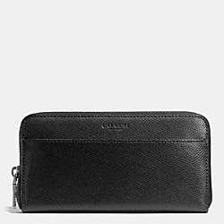 ACCORDION WALLET IN CROSSGRAIN LEATHER - f74977 - BLACK