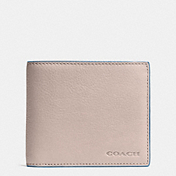 COACH F74980 Compact Id In Novelty Leather  GREY BIRCH