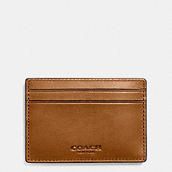 MONEY CLIP CARD CASE IN SPORT CALF LEATHER - f74985 - SADDLE