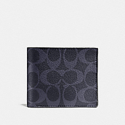 COACH F74993 Compact Id Wallet In Signature MIDNIGHT