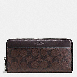 COACH F75000 - ACCORDION WALLET IN SIGNATURE MAHOGANY/BROWN