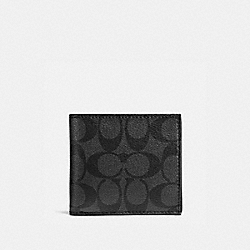 COACH F75006 Coin Case In Signature CHARCOAL/BLACK