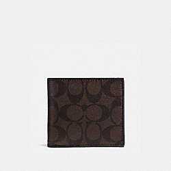 COACH F75006 - COIN CASE IN SIGNATURE MAHOGANY/BROWN