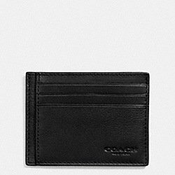 COACH F75022 Slim Card Case In Sport Calf Leather BLACK