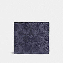 COACH F75083 - DOUBLE BILLFOLD WALLET IN SIGNATURE DENIM