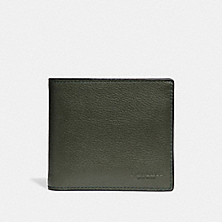 COACH F75084 Double Billfold Wallet DARK GREEN
