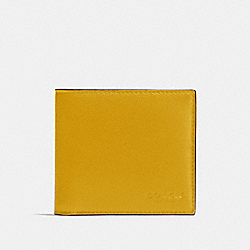 COACH F75084 - DOUBLE BILLFOLD WALLET IN CALF LEATHER FLAX