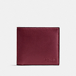 COACH F75084 - DOUBLE BILLFOLD WALLET CARDINAL/BLACK ANTIQUE NICKEL