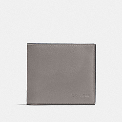 COACH F75084 Double Billfold Wallet HEATHER GREY/BLACK ANTIQUE NICKEL