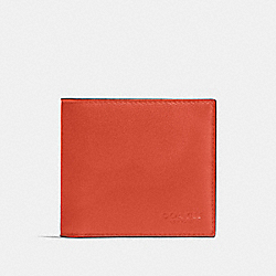 COACH F75084 - DOUBLE BILLFOLD WALLET RUSSET/BLACK ANTIQUE NICKEL