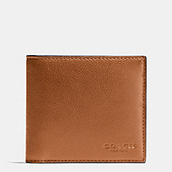 COACH F75084 - DOUBLE BILLFOLD WALLET IN CALF LEATHER SADDLE