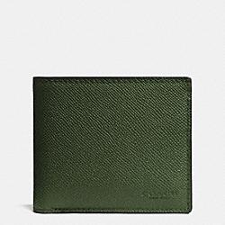 COACH F75096 Compact Id Wallet FERN