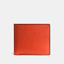 COACH F75096 Compact Id Wallet VINTAGE ORANGE