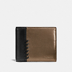 COACH F75193 Rip And Repair Compact Id Wallet FATIGUE/BLACK