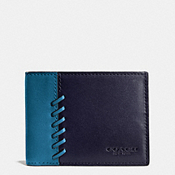 RIP AND REPAIR SLIM BILLFOLD WALLET IN SPORT CALF LEATHER - f75212 - MIDNIGHT