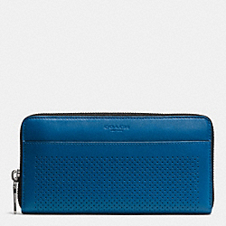 COACH F75222 Accordion Wallet In Perforated Leather DENIM