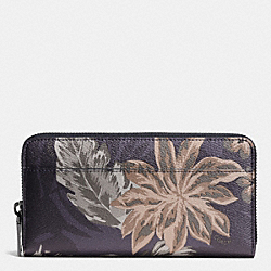 COACH F75298 Accordion Wallet In Tropical Print Coated Canvas HAWAIIAN PALM