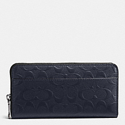COACH F75372 - ACCORDION WALLET IN SIGNATURE CROSSGRAIN LEATHER MIDNIGHT NAVY