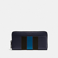COACH F75395 - ACCORDION WALLET IN VARSITY LEATHER MIDNIGHT NAVY