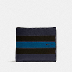 COACH F75399 Compact Id Wallet In Varsity Leather MIDNIGHT NAVY