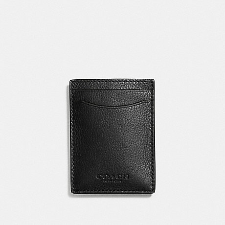 6d78a7ea8b COACH F75479 - BOXED 3-IN-1 CARD CASE IN SMOOTH CALF LEATHER - BLACK ...
