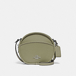 COACH F75516 Canteen Crossbody LIGHT CLOVER/SILVER