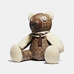 BEAR IN SIGNATURE CANVAS - F75528 - KHAKI