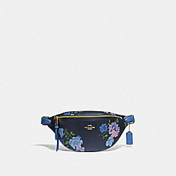 COACH F75702 - BELT BAG WITH PAINTED PEONY PRINT NAVY MULTI/IMITATION GOLD