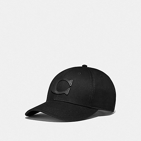 COACH F75703 VARSITY C CAP BLACK