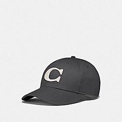 COACH F75703 - VARSITY C CAP CHARCOAL