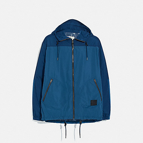 COACH F75707 RAIN REACTIVE WINDBREAKER COBALT