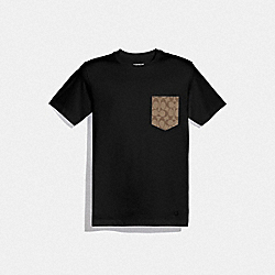 COACH F75710 - ESSENTIAL T-SHIRT BLACK